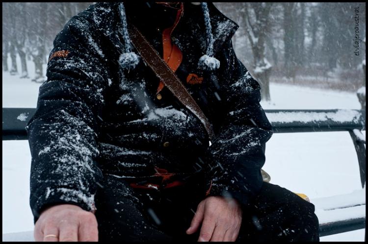 Autorretrato descabezado y nevado